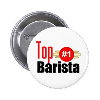 Top Barista Pinback Button
