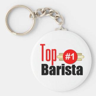 Top Barista Basic Round Button Key Ring