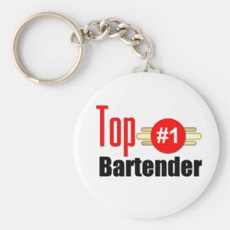 Top Bartender Basic Round Button Key Ring