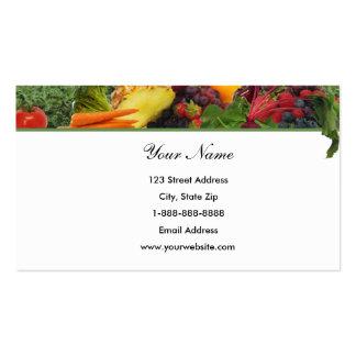 Top Border Fruit - Veggie Business Card