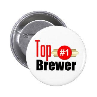Top Brewer Pinback Button
