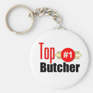 Top Butcher Basic Round Button Key Ring
