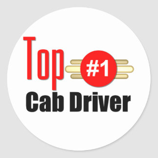 Top Cab Driver Round Stickers