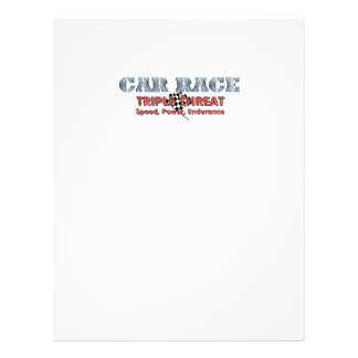 TOP Car Race Triple 21.5 Cm X 28 Cm Flyer