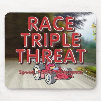 TOP Car Race Triple Threat Mouse Pad