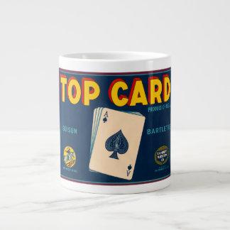 Top Card Suisun Bartletts Vintage Crate Label 20 Oz Large Ceramic Coffee Mug