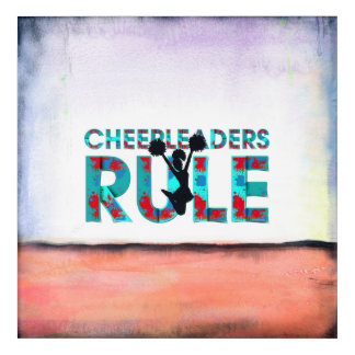 TOP Cheerleaders Rule Acrylic Wall Art
