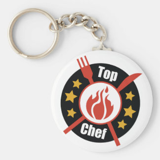 Top Chef Basic Round Button Key Ring