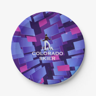 TOP Colorado Skier Paper Plate