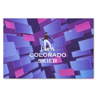 TOP Colorado Skier Tissue Paper