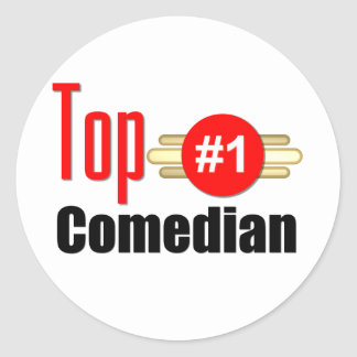 Top Comedian Round Stickers