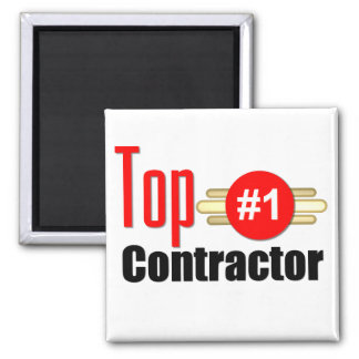 Top Contractor Square Magnet