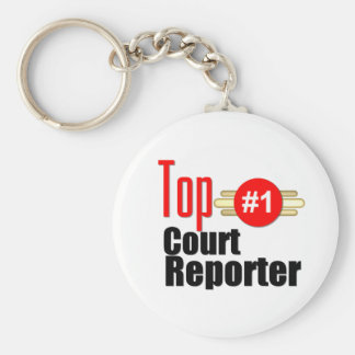 Top Court Reporter Basic Round Button Key Ring