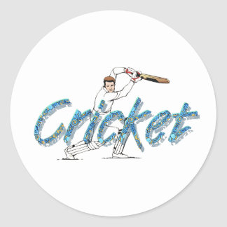 TOP Cricket Round Sticker