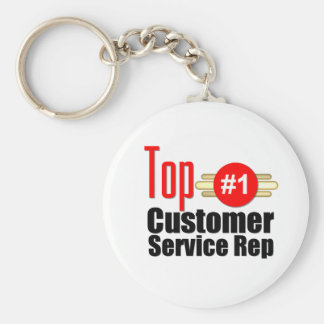 Top Customer Service Rep Basic Round Button Key Ring