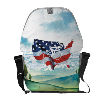TOP Cycling in the USA Messenger Bag