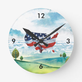 TOP Cycling in the USA Round Clock