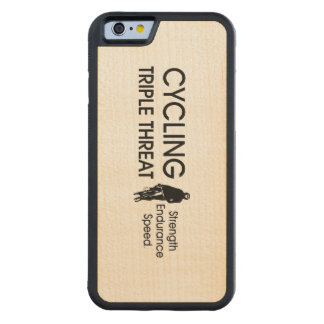 TOP Cycling Triple Threat Carved Maple iPhone 6 Bumper Case