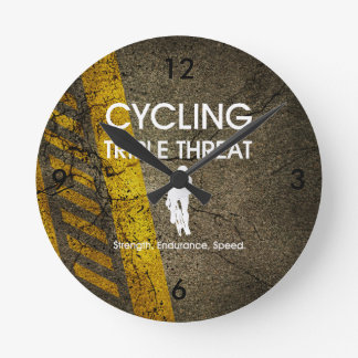 TOP Cycling Triple Threat Round Clock