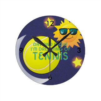 TOP Day Night Tennis Round Clock