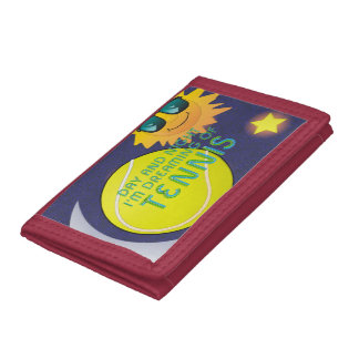 TOP Day Night Tennis Trifold Wallet