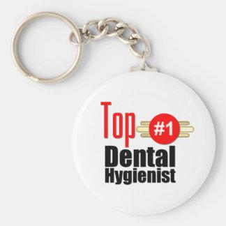 Top Dental Hygienist Basic Round Button Key Ring