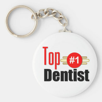 Top Dentitst Basic Round Button Key Ring