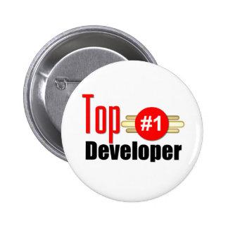 Top Developer Pinback Buttons