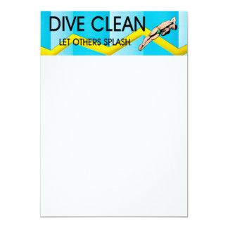 TOP Dive Clean 13 Cm X 18 Cm Invitation Card
