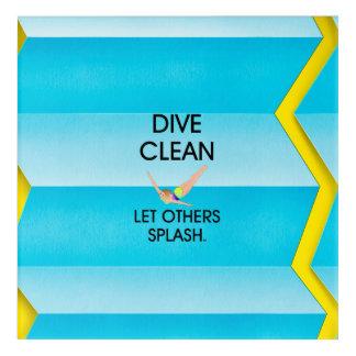 TOP Dive Clean Acrylic Wall Art