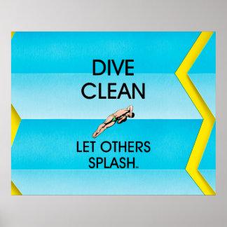 TOP Dive Clean Poster