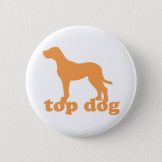 Top Dog Button in White