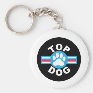 top dog basic round button key ring