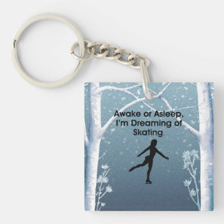 TOP Dreaming of Skating Double-Sided Square Acrylic Key Ring