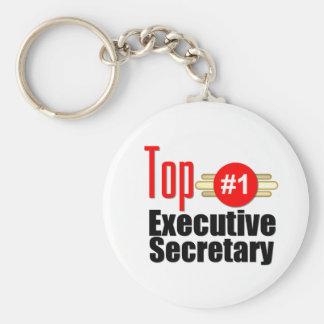Top Executive Secretary Basic Round Button Key Ring