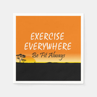 TOP Exercise Everywhere Paper Serviettes