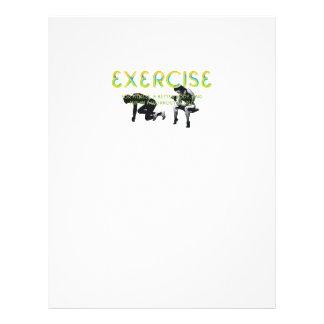 TOP Exercise Slogan 21.5 Cm X 28 Cm Flyer