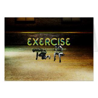 TOP Exercise Slogan Card
