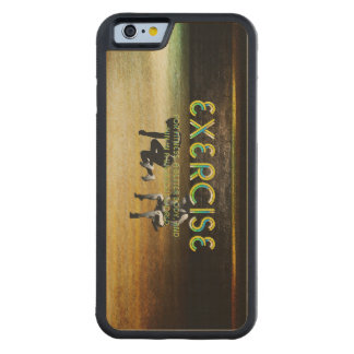 TOP Exercise Slogan Carved Maple iPhone 6 Bumper Case