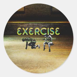 TOP Exercise Slogan Classic Round Sticker