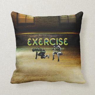 TOP Exercise Slogan Cushion