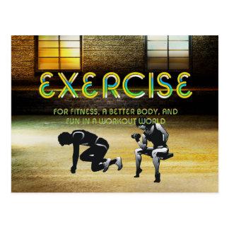 TOP Exercise Slogan Postcard