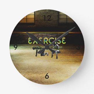 TOP Exercise Slogan Round Clock