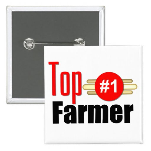 Top Farmer Pinback Buttons