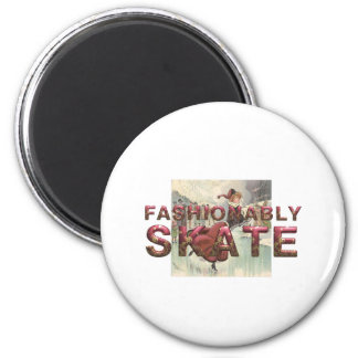 TOP Fashionably Skate 6 Cm Round Magnet
