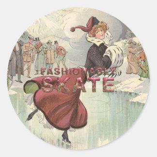 TOP Fashionably Skate Round Sticker