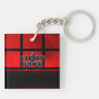 TOP Fight Back Double-Sided Square Acrylic Key Ring