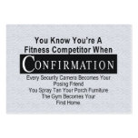 TOP Fitness Competitor Business Cards
