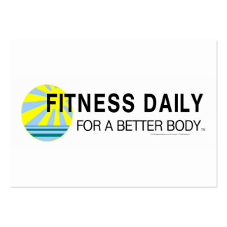 TOP Fitness Daily Business Card