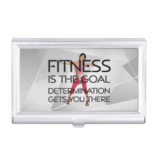 TOP Fitness Goal Business Card Holder